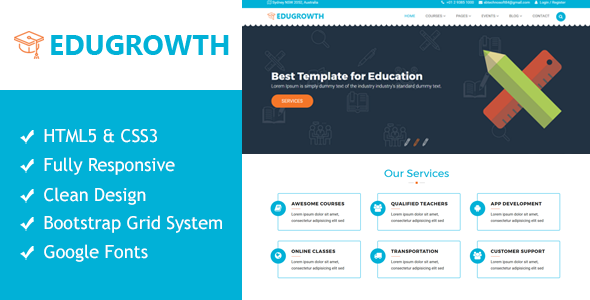 EduGrowth - Education HTML5 Responsive Template