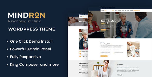 Mindron - Psychology & Counseling WordPress Theme