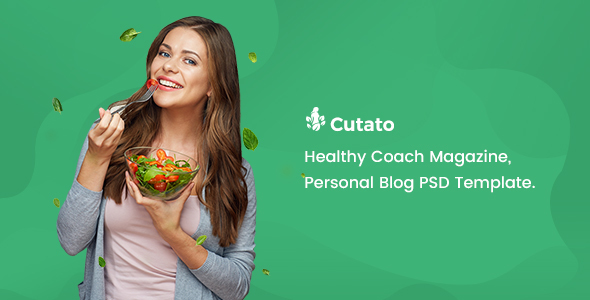 CUTATO - Healthy Magazine PSD Template