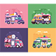 Street Food Trucks and Vans - GraphicRiver Item for Sale