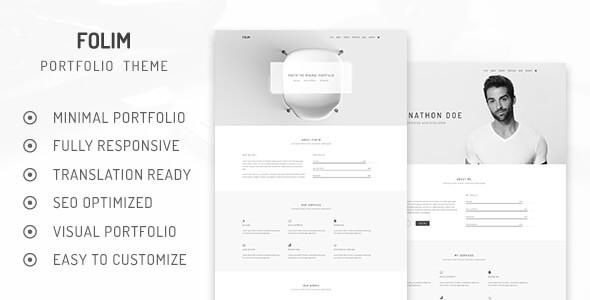 Folim Lite - Clean Minimalist Portfolio WordPress Theme