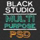 The Multi Purpose Black Studio PSD - ThemeForest Item for Sale