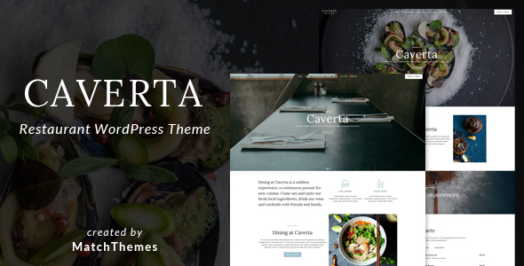 Caverta - Fine Dining Restaurant WordPress Theme