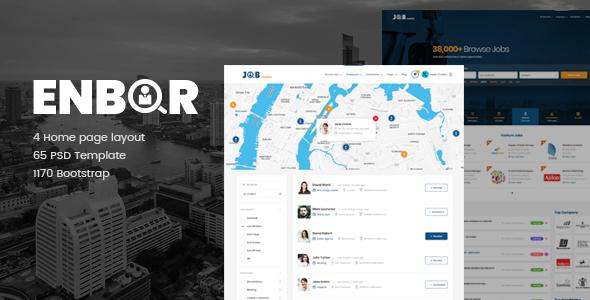 Enbor - Job Board PSD Template