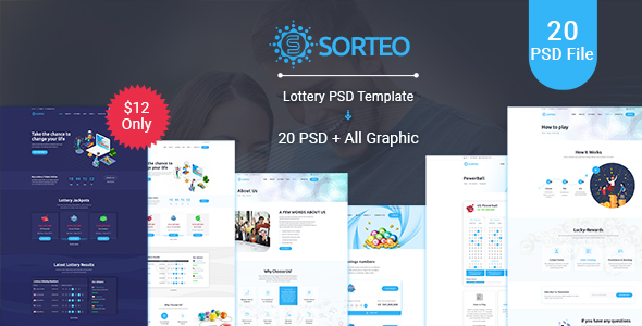 Sorteo– Lotto PSD Template