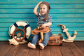 Happy child playing with toy airplane - PhotoDune Item for Sale