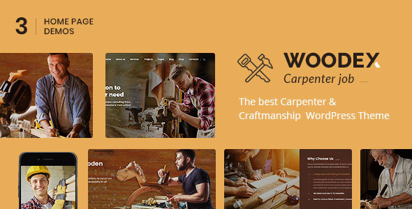 Woodex - Carpenter and Craftman Business WordPress Theme