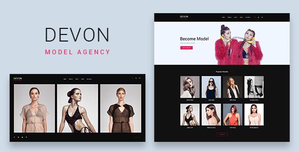 Devon - Model Agency Directory HTML Theme