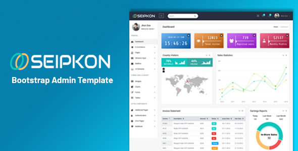Seipkon - Bootstrap Admin Template