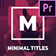 Different / Minimal Art Titles for Premiere Pro - VideoHive Item for Sale
