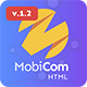 MobiCom - Mobile App Landing Pages Pack - ThemeForest Item for Sale