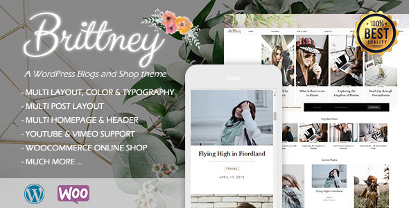 Brittney - A Responsive WordPress Blog and Shop Theme