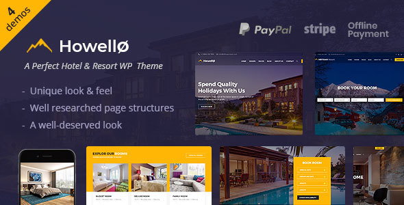 Howello : Hotel and Resort WordPress Theme