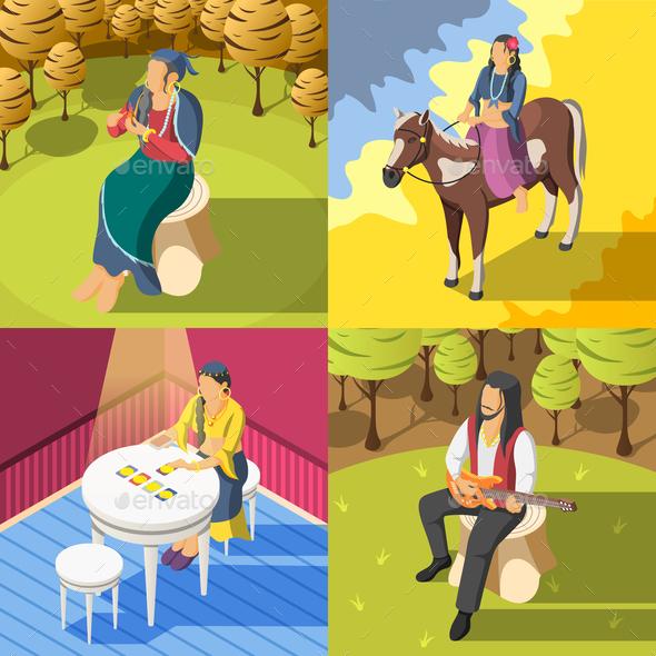 Gypsies Isometric 2x2  Design Concept