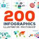 200 Infographics Bundle - GraphicRiver Item for Sale