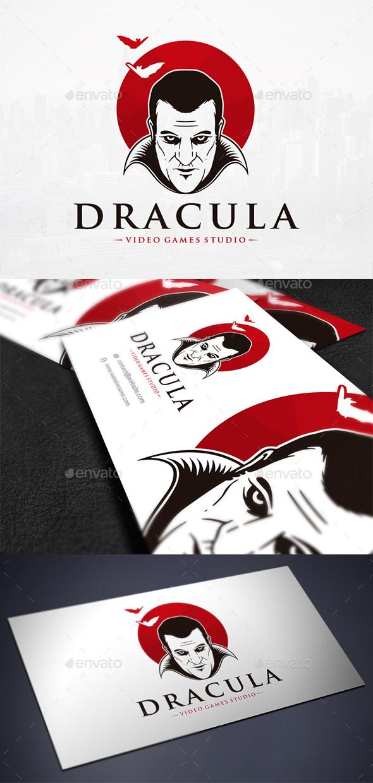 Dracula Face Logo Template