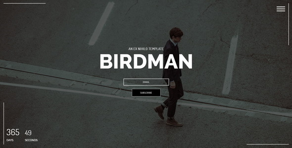 Birdman || Responsive Coming Soon Page
