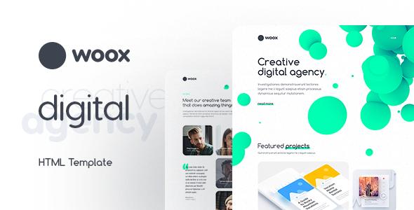 Woox – Creative Portfolio HTML Website Template