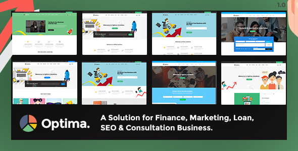 Optima – Multiple Solutions For Business WordPress Theme Free Download