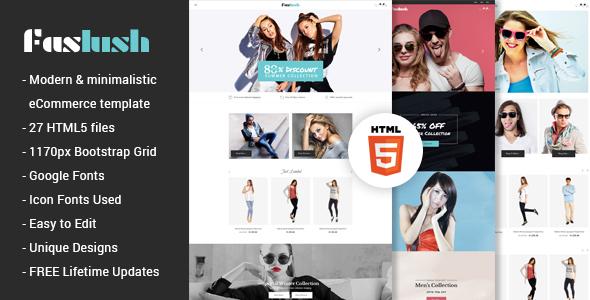 Faslush - A Modern & Minimalistic eCommerce HTML5 Template