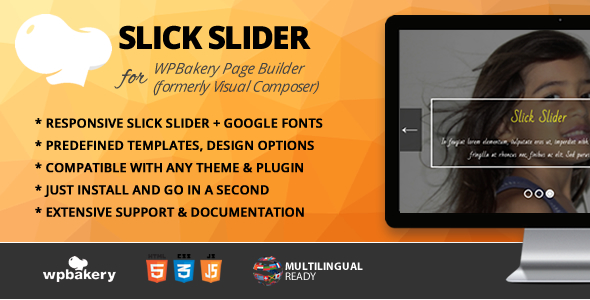 Slick Slider Addon for WPBakery Page Builder (formerly Visual Composer)