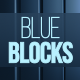 Blue Vertical Blocks Loop Background - VideoHive Item for Sale