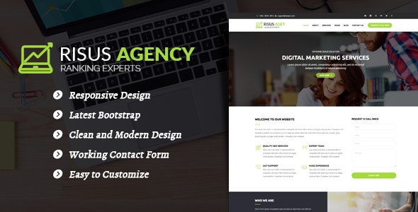 Risus Agency - SEO and Digital Marketing WordPress Theme
