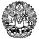 Vector Illustration of Ganesha Hindu God Elephant - GraphicRiver Item for Sale