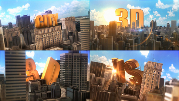 Epic Golden Title In City Cracked Videohive (1 21 MB