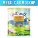 Metal Can Mockup - GraphicRiver Item for Sale