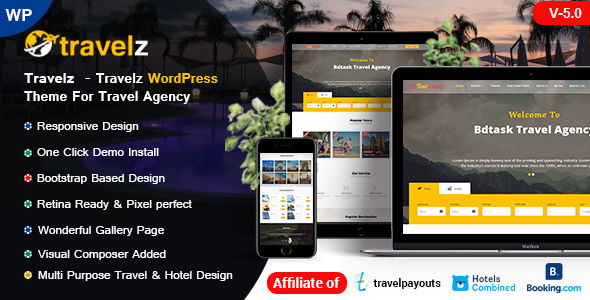 Travelz - WordPress Theme for Tour Agency
