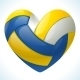 Volleyball in the shape of heart - GraphicRiver Item for Sale