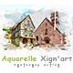 Aquarelle Xign'art   PS Action - GraphicRiver Item for Sale