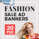 Fashion Sale Ad Banners - GraphicRiver Item for Sale