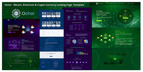Ocher - Bitcoin, Ethereum & Cryptocurrency Landing Page  Template