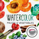 Watercolor Fruits And Vegetables - GraphicRiver Item for Sale