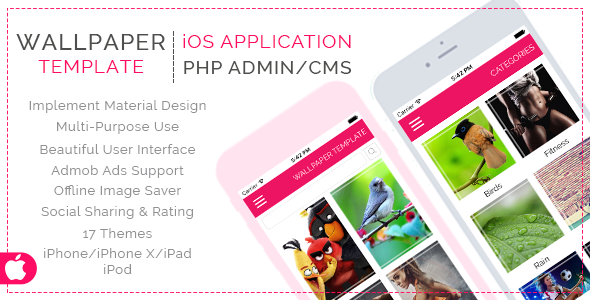 HD Wallpaper Template for iOS with PHP CMS Admin Panel Download