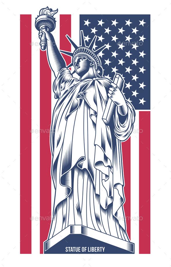 Statue of Liberty Vector Illustration