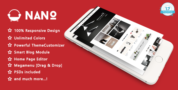 Nano - Minimalist Furniture Design Responsive PrestaShop 1.7 Theme