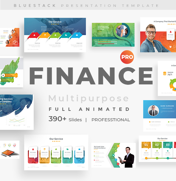 Finance Fully Animated Pitch Deck  Powerpoint Template
