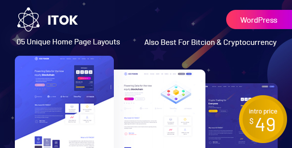 ITok - ICO and Cryptocurrency WordPress Theme