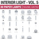 Interior Light Vol 5 - Paper Lamps 30 Pack - 3DOcean Item for Sale