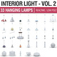 Interior Light Vol 2 - 30 Hanging Lamps - 3DOcean Item for Sale