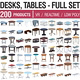 Tables and Desks Collection - 200 Products - 3DOcean Item for Sale
