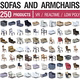 Sofa and Armchairs - 250 Products - 3DOcean Item for Sale