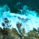 Beautiful Ocean Waves with White Foam on Rocky Coastline - VideoHive Item for Sale