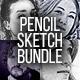 Pencil Sketch Bundle - 4 Photoshop Action - GraphicRiver Item for Sale