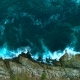 The Sea Waves Break Against the Rocks on the Shore - VideoHive Item for Sale