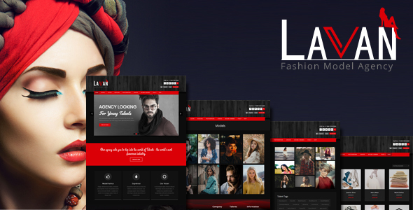 Lavan - Fashion Model Agency WordPress CMS Theme