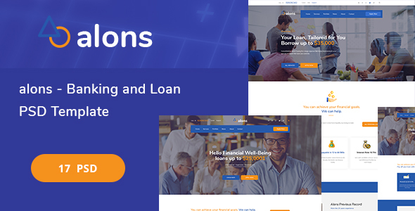 Alons - Banking and Loan PSD Template